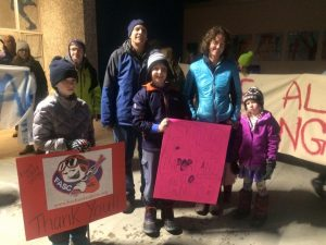 SaveED Alaska's Collegiate Skiing March on Nov. 10, 2016.